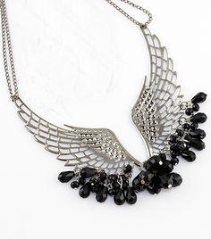 Vintage Brilliant Charming Angel Wing Beaded Necklace - Sheinside.com  #SheInside