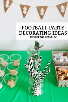 Superbowl party ideas - the big game is just around the corner! Watch this video for some simple football party entertainment / decor ideas! Celebrate Good Times, Party Entertainment, Mason Jar Diy, Party Themes, Party Ideas, Party Planning, Fall Football, Football Season, Decorating Ideas