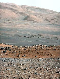 the view from the red planet MARS from Curiosity's camera 8-2012