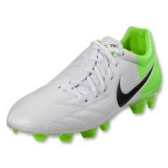 low priced 83087 02cbd Nike T90 Strike IV FG (White Black Electric Green) Soccer, Electric