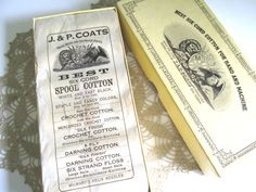 Vintage Six Cord Cotton Thread For Hand and Machine J&P Coats Crochet Spool Cotton by RollingHillsVintage on Etsy