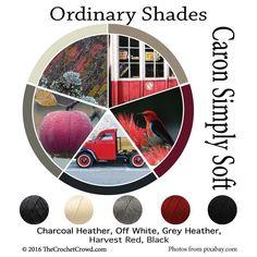 Caron Simply Soft Ordinary Shades Color Combinations