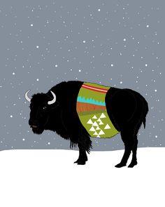 free printable, i love buffalos!