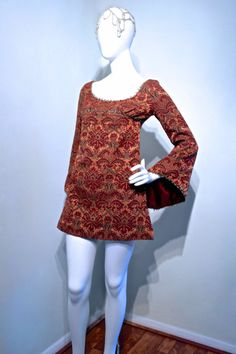 Incredible vtg 60s MEDIEVAL Jacquard by VicAndBertieVintage