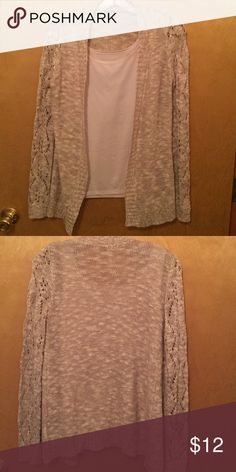 White and tan lightweight cardigan Size S lightweight cardigan. Only worn a couple of times. Make an offer!! Charlotte Russe Sweaters Cardigans