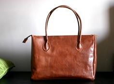 Leather bag - leather bags - Leather tote bag - Handmade - leather tote - tote bag - school bag - notebook bag - made in Italy
