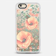 Peach Florals - New Standard Case in Clear and Clear by @samantharanlet | @casetify