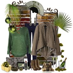 """""""brown green"""" by ntina36 on Polyvore"""
