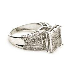 10K White Gold 1.0 CTTW Diamond Engagement Ring $550