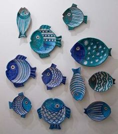 Ceramic Clay, Ceramic Plates, Ceramic Pottery, Clay Projects, Clay Crafts, Arts And Crafts, Clay Fish, Fish Plate, Ceramic Animals