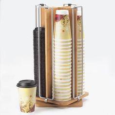 Cal Mil 1468 Bamboo Revolving Cup / Lid Organizer