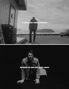 """some-people-call-it-tragic: """" but even underneath the waves, I'll be holding on to you. cause there's nothing that I wouldn't do to find my way back to you. Dean Winchester, Dean And Castiel, Supernatural Ships, Supernatural Destiel, Destiel Fanart, Johnlock, Twist And Shout, Super Natural, Misha Collins"""
