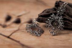 Sterling Silver Filigree Earrings Elegant Queen Handmade by kaneh, €88.40