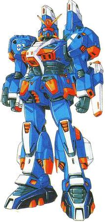 The RAG-79-G1 Waterproof Gundam (水中型ガンダム) (Also called Gundam Marine Type or Gundiver) is an Earth Federation Mobile suit from the Universal Century, which first appeared in Kunio Okawara's M-MSV series and later on in the side story manga Mobile Suit Gundam Unicorn: The Noble Shroud.