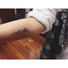 """""""You are not in the mountains, the mountains are in you."""" Thank you so much for - # mountain tattoo Mini Tattoos, Cute Tattoos, New Tattoos, Small Tattoos, Tatoos, Xoil Tattoos, Colorado Tattoo, Piercing Tattoo, Moutain Tattoos"""