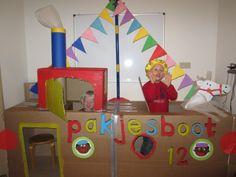 knutselen met karton - stoomboot van Sinterklaas Too Cool For School, Primary School, Crafts For Kids, Classroom, Cool Stuff, Logos, Google, Pirates, Paper Board