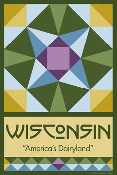 Olde America Antiques | Quilt Blocks | National Parks | Bozeman Montana : 50 STATE QUILT BLOCK SERIES - WISCONSIN
