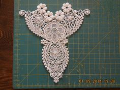 Small Ivory Lace Applique by BWKeepsakes on Etsy, $6.00