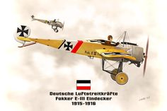 The Fokker E.III was the main variant of the Eindecker (monoplane) fighter aircraft of World War I. It entered service on the Western Front in December 1915 and was also supplied to Austria-Hungary and Turkey.