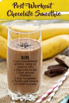 Ready to sweat? This means, bidding farewell to all your chocolate cravings, so they say. Here is a #protein rich post-workout #chocolatesmoothie recipe that you can enjoy without worrying about those extra pounds!Whether you're runner, a cyclist or enjoy yoga, this smoothie will refuel you after your work-out. It's important to include some plant protein (for muscle repair) a...