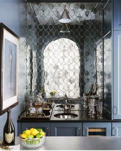 Atlanta Homes & Lifestyles' 2017 Southeastern Designer Showhouse - The Glam Pad Basement Bar Designs, Home Bar Designs, Basement Ideas, Home Wet Bar, Bars For Home, Atlanta Homes, Wet Bars, Small Spaces, Home Goods