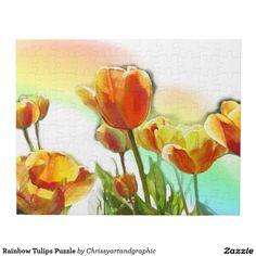 Rainbow Tulips Puzzle