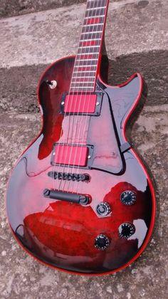 Les Paul Rubber Soul - home decor Prs Guitar, Guitar Art, Music Guitar, Playing Guitar, Acoustic Guitar, Art Music, Heavy Metal, Cool Guitar Picks, Ukulele