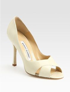 yellow manolo blahnik shoes, manolo blahnik slingback pumps cheap $248, bella swan wedding shoes manolo blahnik, Manolo Blahnik Patent Leather Peep Toe Pumps