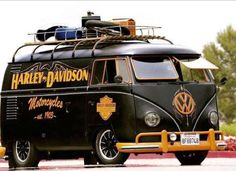 Harley Davidson VW Bus...would totally drive this!