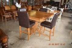 Tall Sq Table and 4 chairs