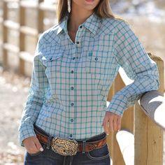 Cinch Women's Plaid Performance Western Shirt