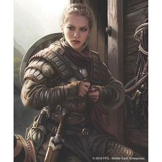Eowyn by the great Magali Villeneuve for The Lord of the Rings: The Card Game #lordoftherings #tabletop