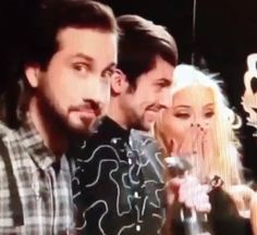 tbt to when Avi, Mitch & Kirstie sang too far in La La La during an interview I'm dead #pentatonix