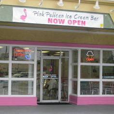 the pink pelican ice cream bar panama city beach florida