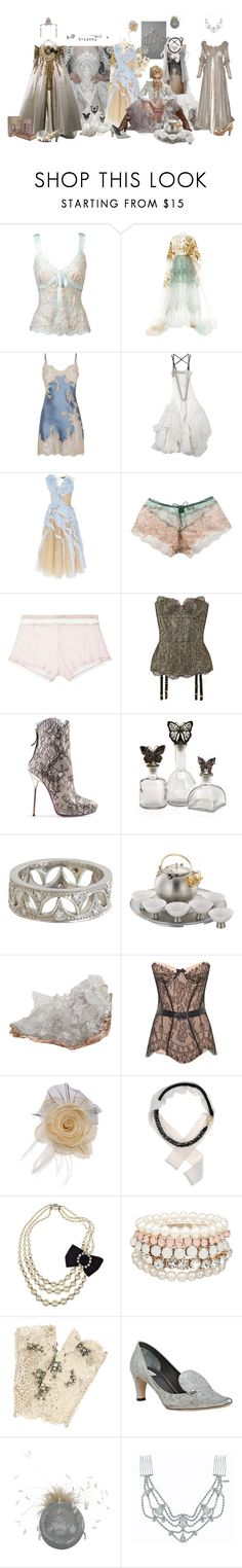 """Courtier"" by verysmallgoddess ❤ liked on Polyvore featuring Delpozo, Marjolaine, Alena Akhmadullina, Mary Green, Addiction, Agent Provocateur, Valentino, Dsquared2, IMAX Corporation and Cathy Waterman"