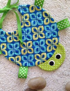 Handcrafted Quilted Turtle Bib