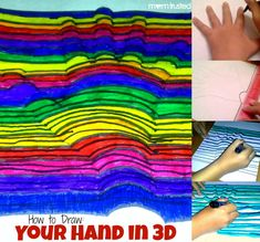 Learn how to draw your hand in 3D with this simple optical illusion technique.  So cool!
