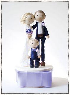 individuelle WeddingCakeTopper - catmade-wedding