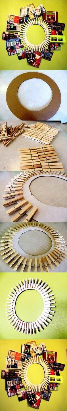¡Portaretratos reciclado! Fantástica opción para decorar. Busca más manualidades en http://www.1001consejos.com