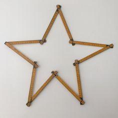 1950s Retro Foldable Wood Vintage Ruler - Metre en Bois Vintage Annees 50- Free delivery UK - Livraison gratuite France