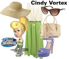 A fashion look from July 2012 featuring off-shoulder dresses, Steve Madden and tassel purse. Browse and shop related looks. Nerd Fashion, Fandom Fashion, Themed Outfits, Inspired Outfits, Cute Couples Costumes, Jimmy Neutron, Beige Shoulder Bags, Cartoon Outfits, Off Shoulder Dresses