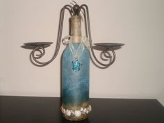 Blazen Concepts wine bottle candelabra.  Now on Etsy!  Beautiful home decorations.  Made to order!