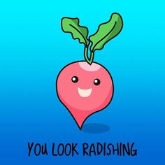 Radish pun #designoftheday #vector #illustration