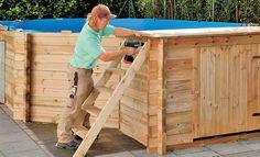 Planen einen swimmingpool mit paletten bauen garten for Kinderpool obi
