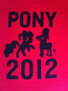 Pony 2012 Hand- Printed Shirt (S to XL). $14.00, via Etsy.