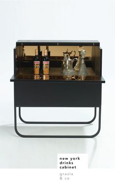 I love a good bar cabinet, you might remember the one I made from an old depression era cabinet. It's just...