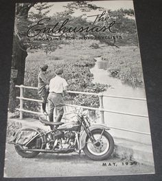 A fantastic example of a 1939 Harley Davidson Enthusiast magazine. This little magazine was put out monthly contains 23 pages of great history. There is a very small amount of soiling on the front and back cover but other than that it is in fantastic condition. A very collectible and interesting magazine for the Harley Davidson enthusiast.