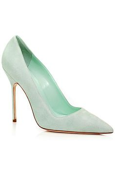 Manolo Blahnik - Shoes - 2014 Spring-Summer..... I so need these for the office!