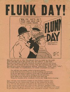 Flunk Day! 1921 - one of many Coe College Flunk Day broadsides found in the Flunk Day Digital Exhibit on the Iowa Heritage Digital Collections.