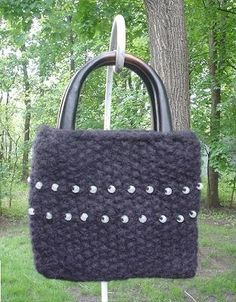 Free Knitting Pattern - Bags, Purses & Totes: Hannah Beaded Purse